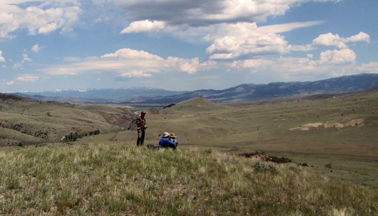 Geology field camp students mapping in western Montana under the big sky.